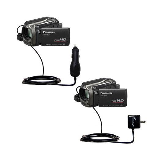 Car & Home Charger Kit compatible with the Panasonic HDC-TM55 Video Camera