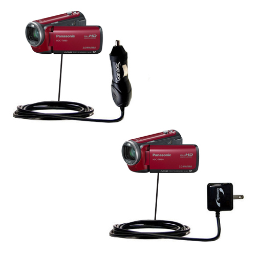 Car & Home Charger Kit compatible with the Panasonic HDC-TM80 Camcorder