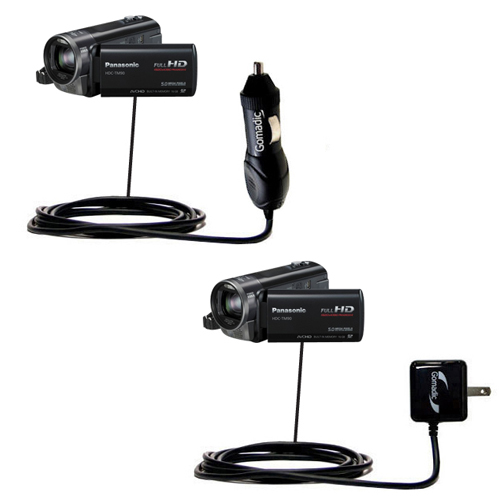 Car & Home Charger Kit compatible with the Panasonic HDC-TM90 Camcorder