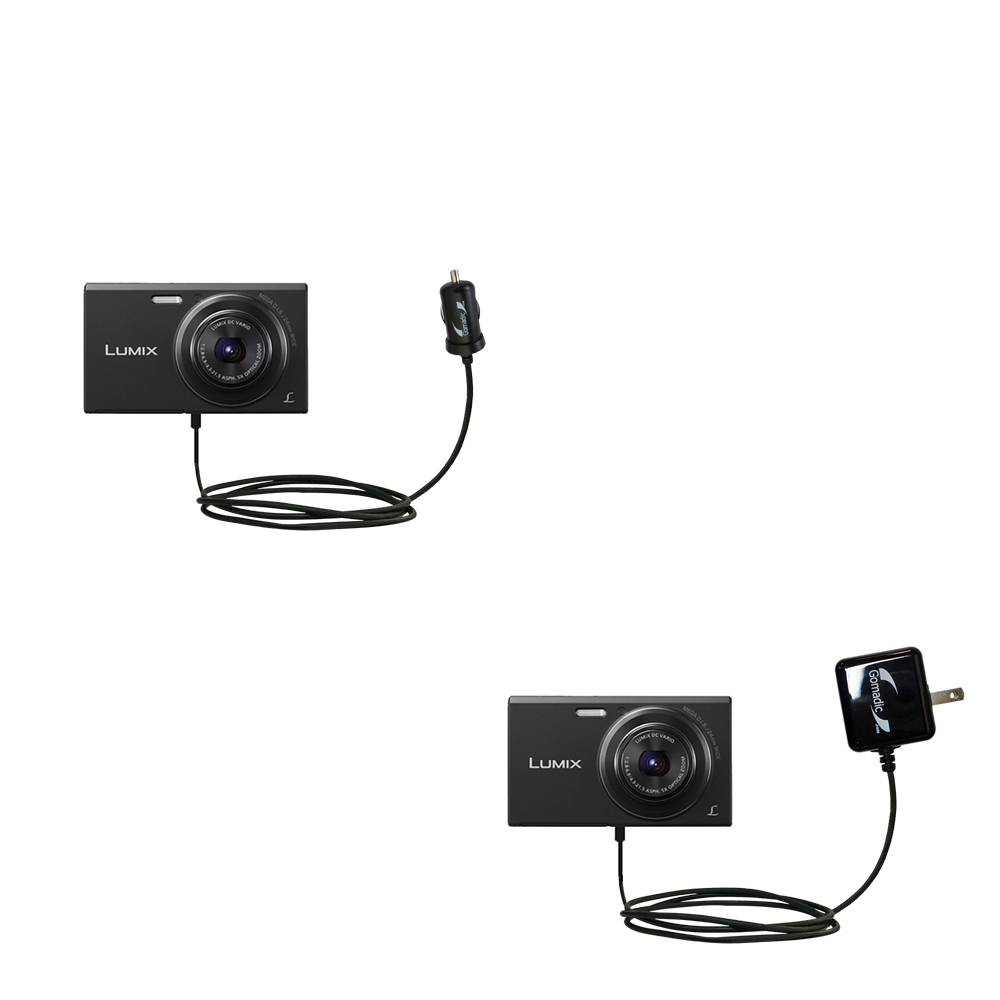 Car & Home Charger Kit compatible with the Panasonic Lumix DMC-FH10V