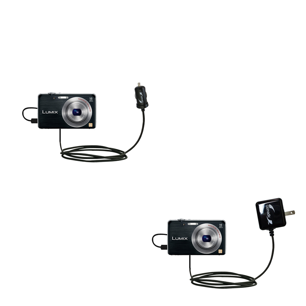 Car & Home Charger Kit compatible with the Panasonic Lumix DMC-FH8K