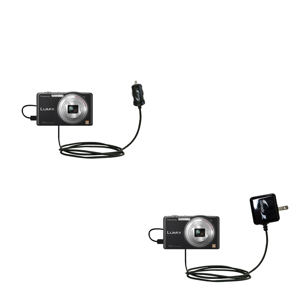 Car & Home Charger Kit compatible with the Panasonic Lumix DMC-SZ1K