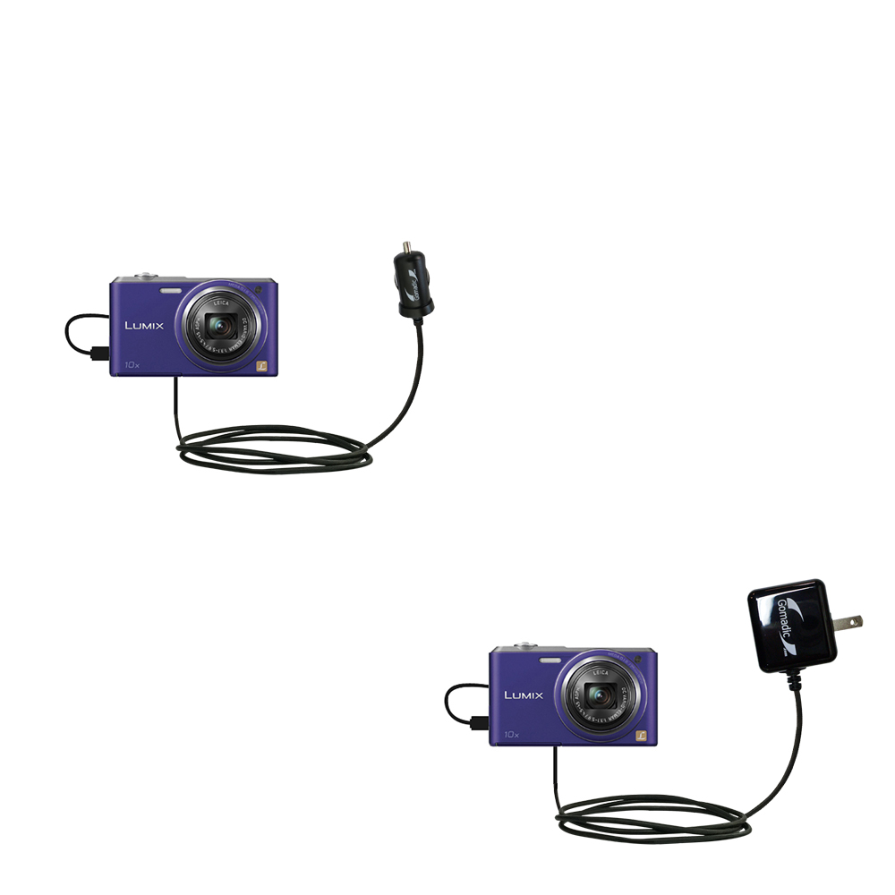 Car & Home Charger Kit compatible with the Panasonic Lumix DMC-SZ3V