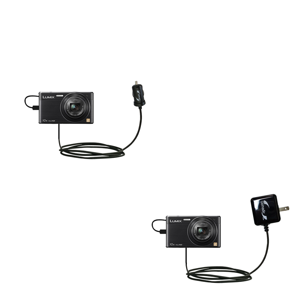 Car & Home Charger Kit compatible with the Panasonic Lumix DMC-SZ9