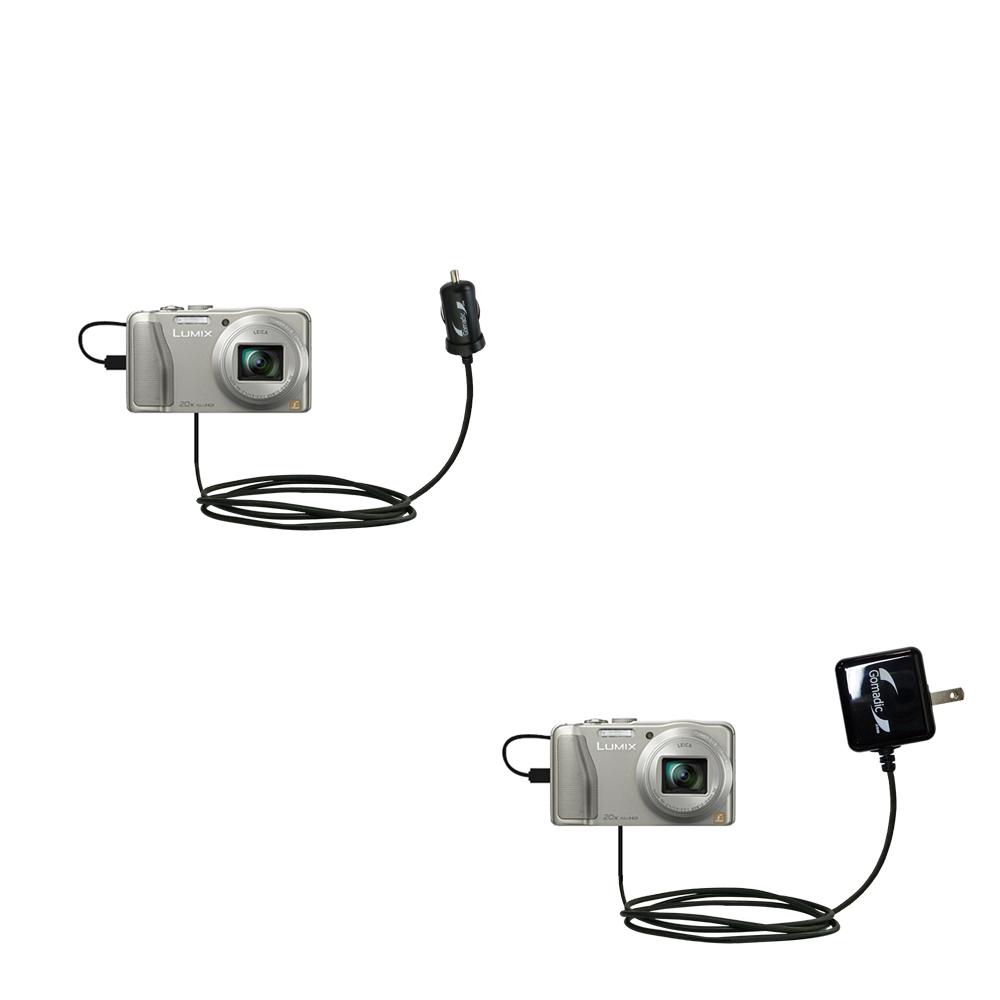 Car & Home Charger Kit compatible with the Panasonic Lumix DMC-TZ30 / DMC-TZ35