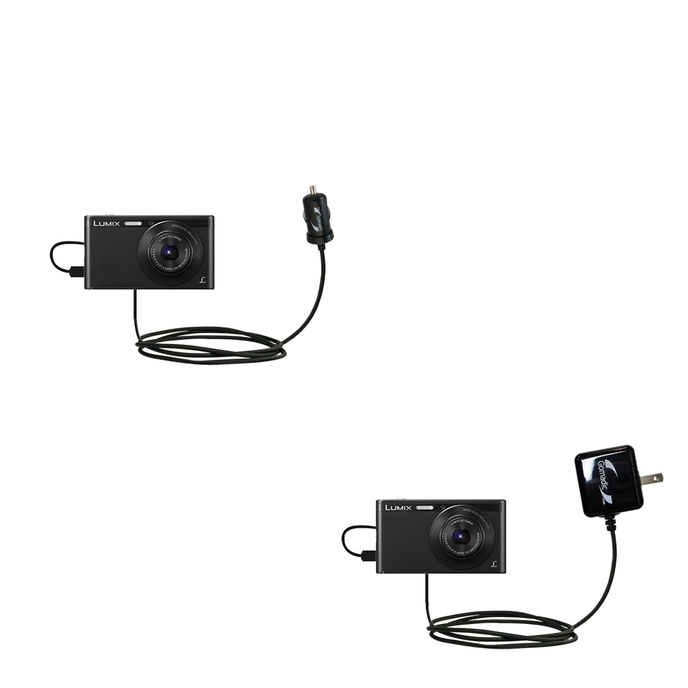 Car & Home Charger Kit compatible with the Panasonic Lumix DMC-XS1K