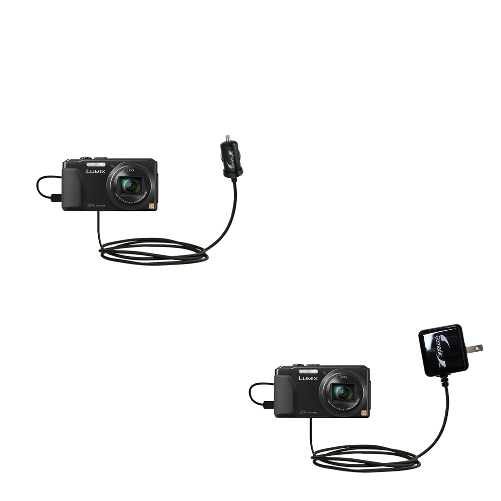 Car & Home Charger Kit compatible with the Panasonic Lumix DMC-ZS30K