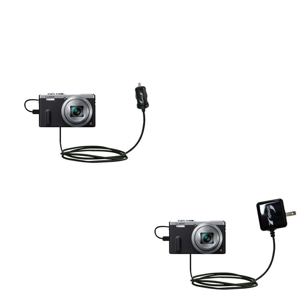 Car & Home Charger Kit compatible with the Panasonic Lumix DMC-ZS40