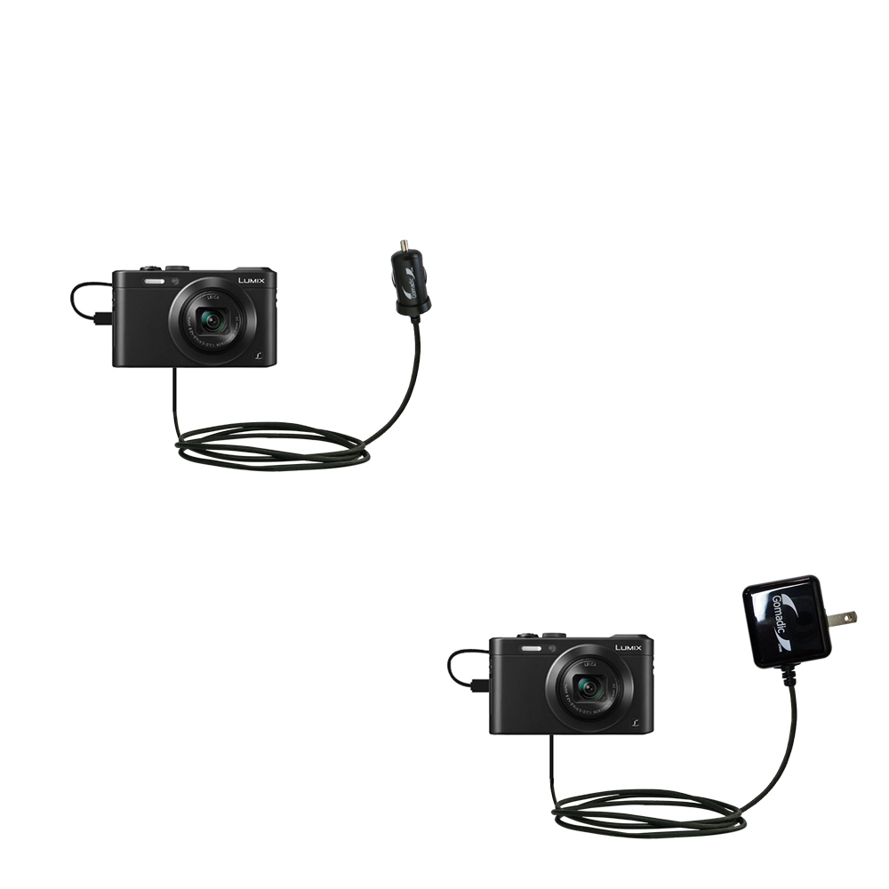 Car & Home Charger Kit compatible with the Panasonic Lumix LF1 / DMC-LF1