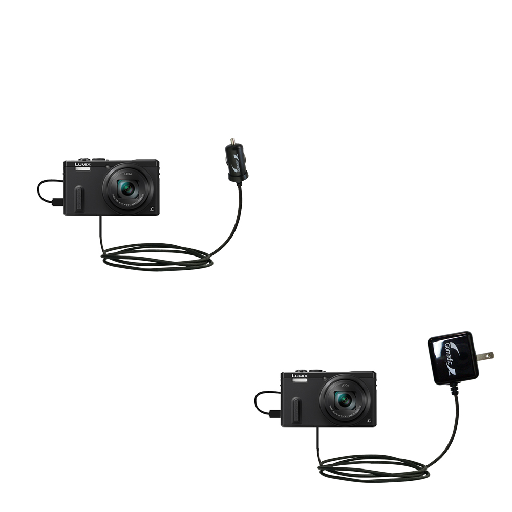 Car & Home Charger Kit compatible with the Panasonic Lumix ZS19 / ZS20