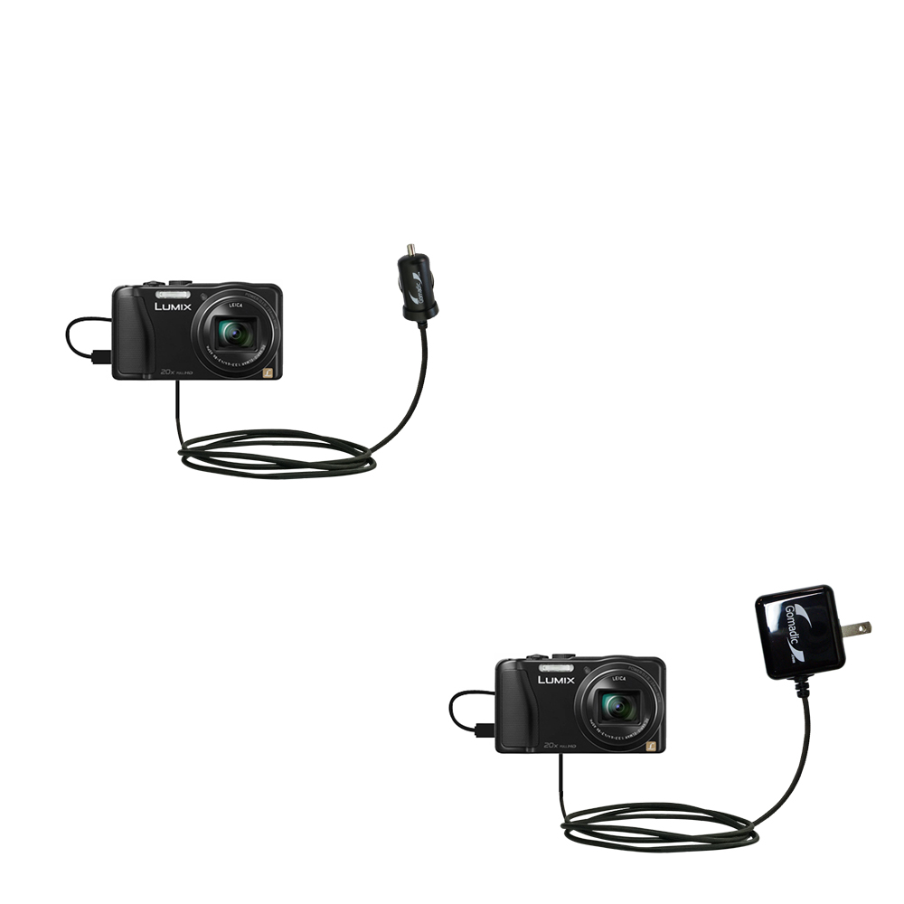 Car & Home Charger Kit compatible with the Panasonic Lumix ZS25 / ZS30