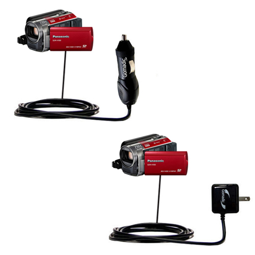 Car & Home Charger Kit compatible with the Panasonic SDR-H100 Camcorder