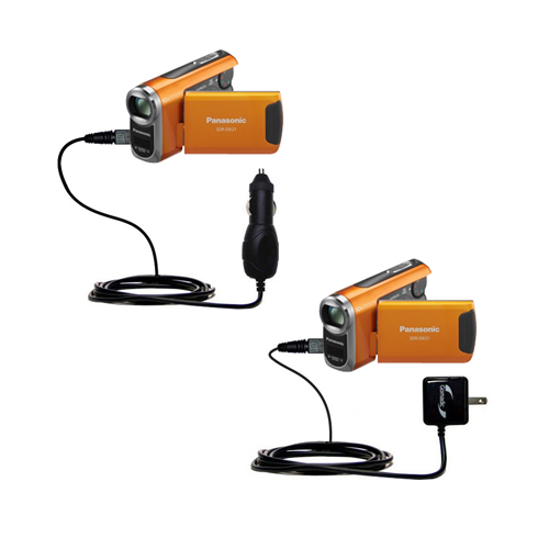 Car & Home Charger Kit compatible with the Panasonic SDR-SW21 Video Camera