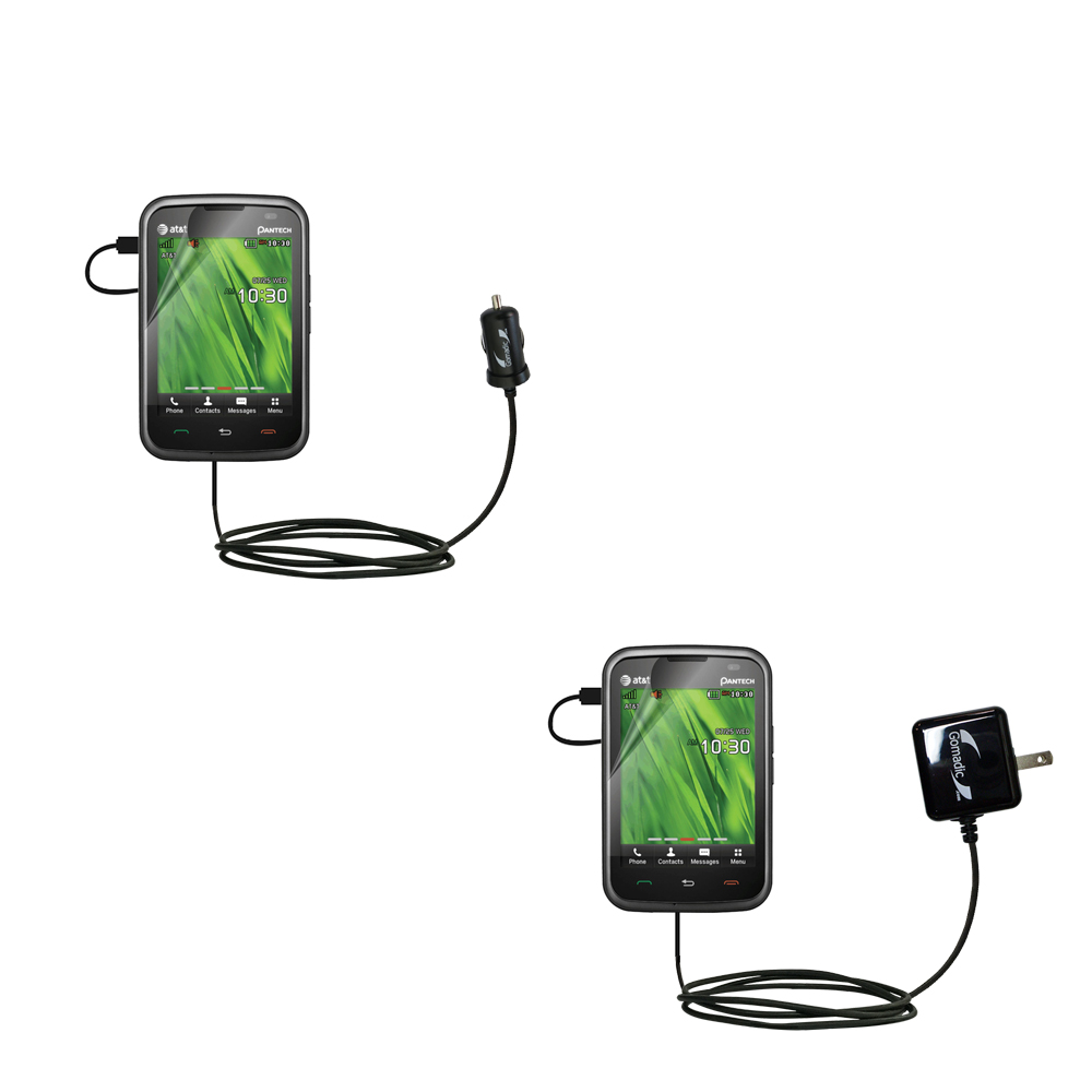 Car & Home Charger Kit compatible with the Pantech Renue