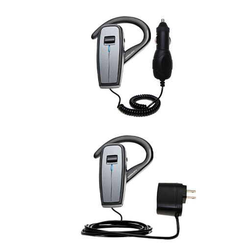 Car & Home Charger Kit compatible with the Plantronics Explorer 370