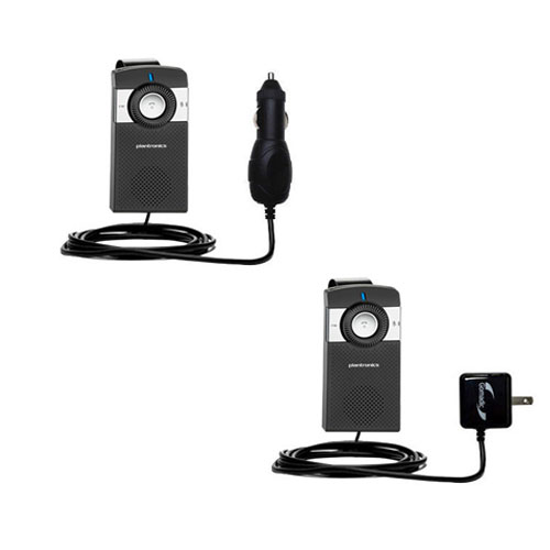 Car & Home Charger Kit compatible with the Plantronics K100 In-Car Speakerphone