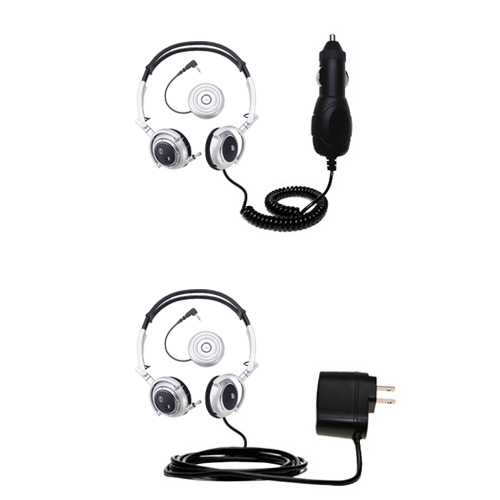 Car & Home Charger Kit compatible with the Plantronics Pulsar 590E