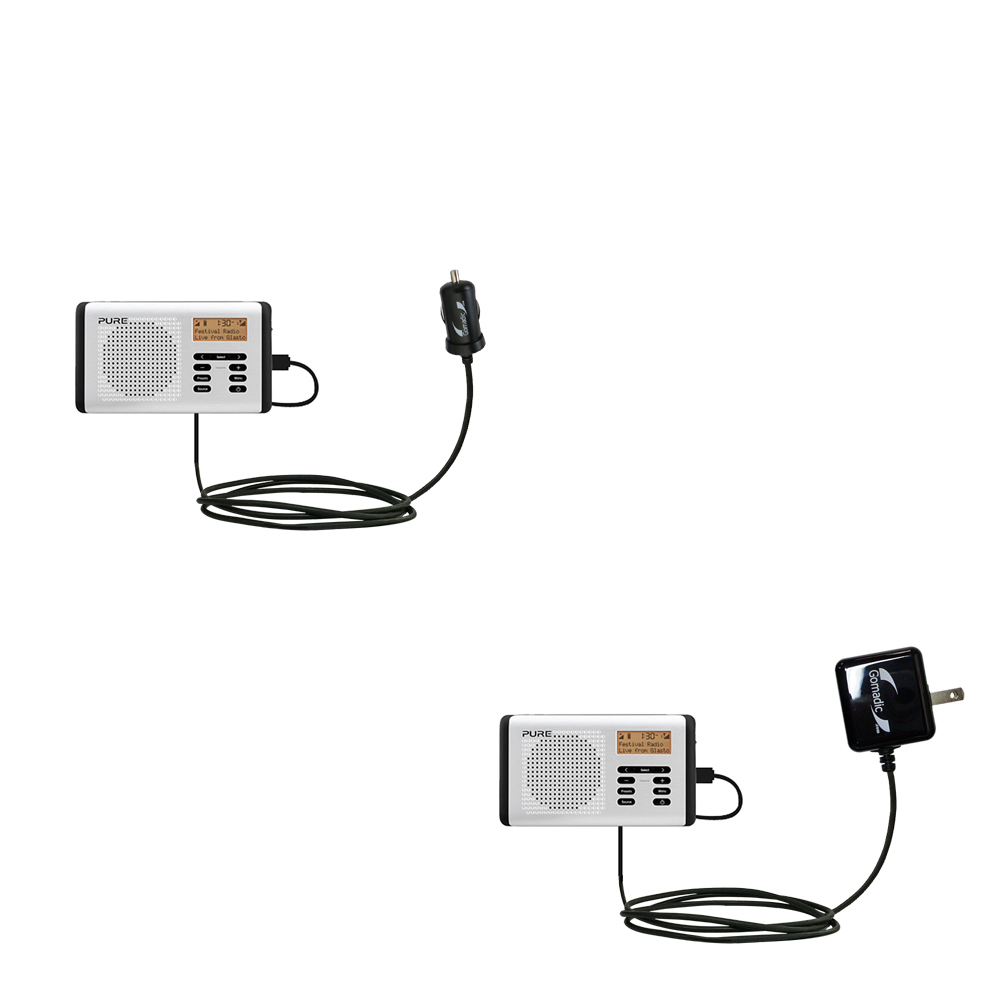 Car & Home Charger Kit compatible with the PURE Move 400D