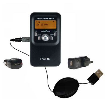 Car & Home Charger Kit compatible with the PURE PocketDAB 1500