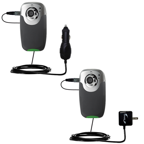 Car & Home Charger Kit compatible with the RCA EZ4000 EZ409HD Small Wonder