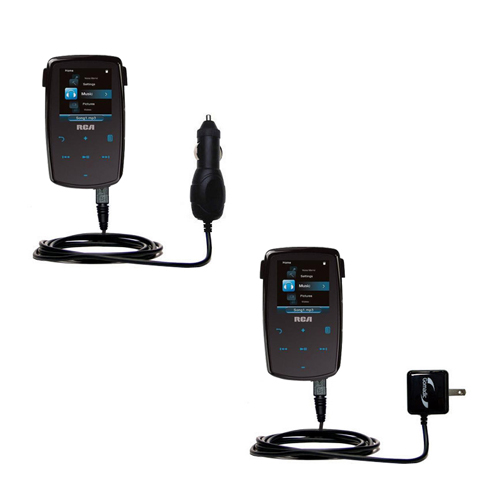 Car & Home Charger Kit compatible with the RCA M3804 Lyra Digital Media Player