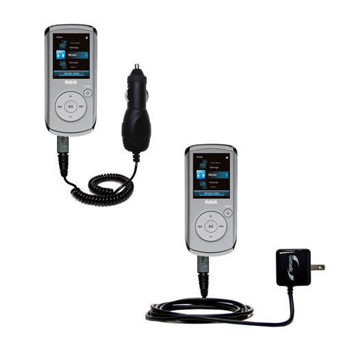 Car & Home Charger Kit compatible with the RCA M4108 Digital Music Player