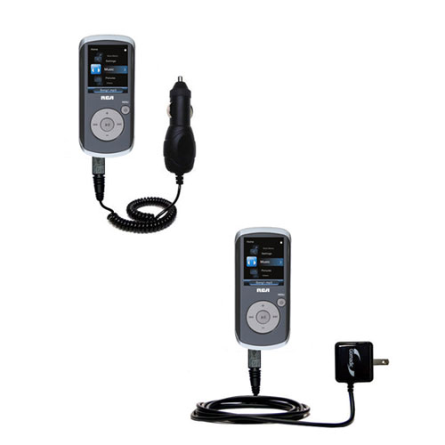 Car & Home Charger Kit compatible with the RCA M4208 OPAL Digital Media Player