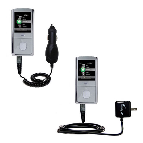 Car & Home Charger Kit compatible with the RCA M4304 Digital Music Player