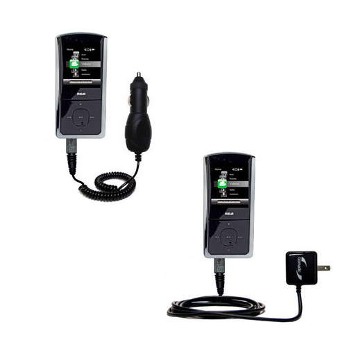 Car & Home Charger Kit compatible with the RCA M4308 Digital Music Player
