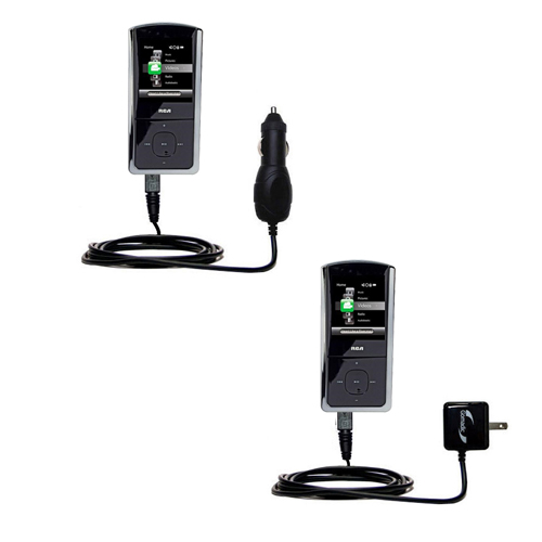 Car & Home Charger Kit compatible with the RCA M4308 Opal Digital Media Player