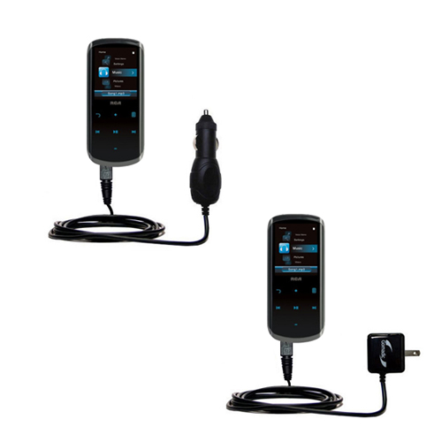 Car & Home Charger Kit compatible with the RCA M4508 Lyra Digital Media Player