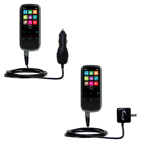 Car & Home Charger Kit compatible with the RCA M4608 Lyra Digital Media Player