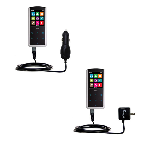 Car & Home Charger Kit compatible with the RCA M4808 Lyra Digital Media Player