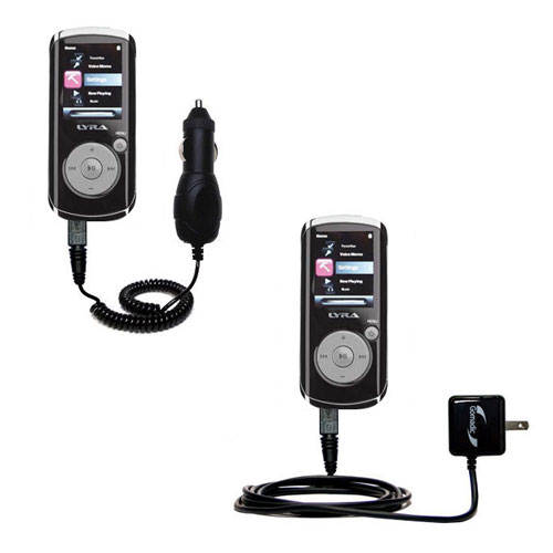 Car & Home Charger Kit compatible with the RCA MC4204 OPAL Digital Media Player