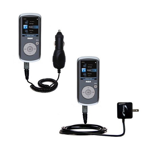 Car & Home Charger Kit compatible with the RCA MC4208 OPAL Digital Media Player