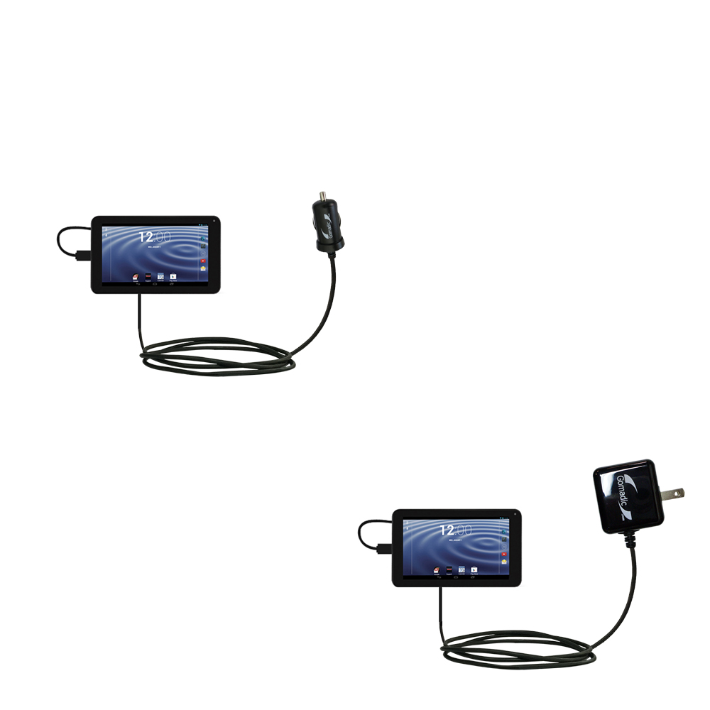Car & Home Charger Kit compatible with the RCA RCT6272W23