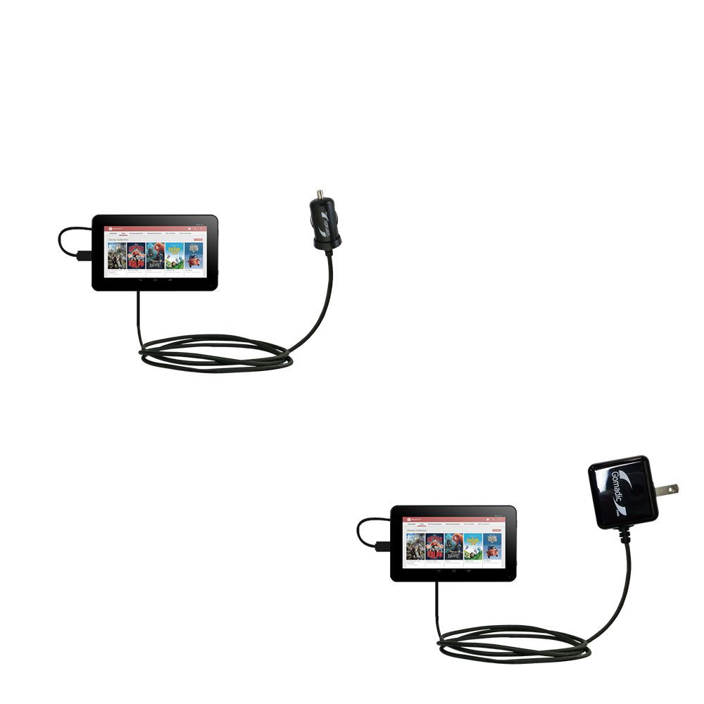 Car & Home Charger Kit compatible with the RCA RCT6378W2