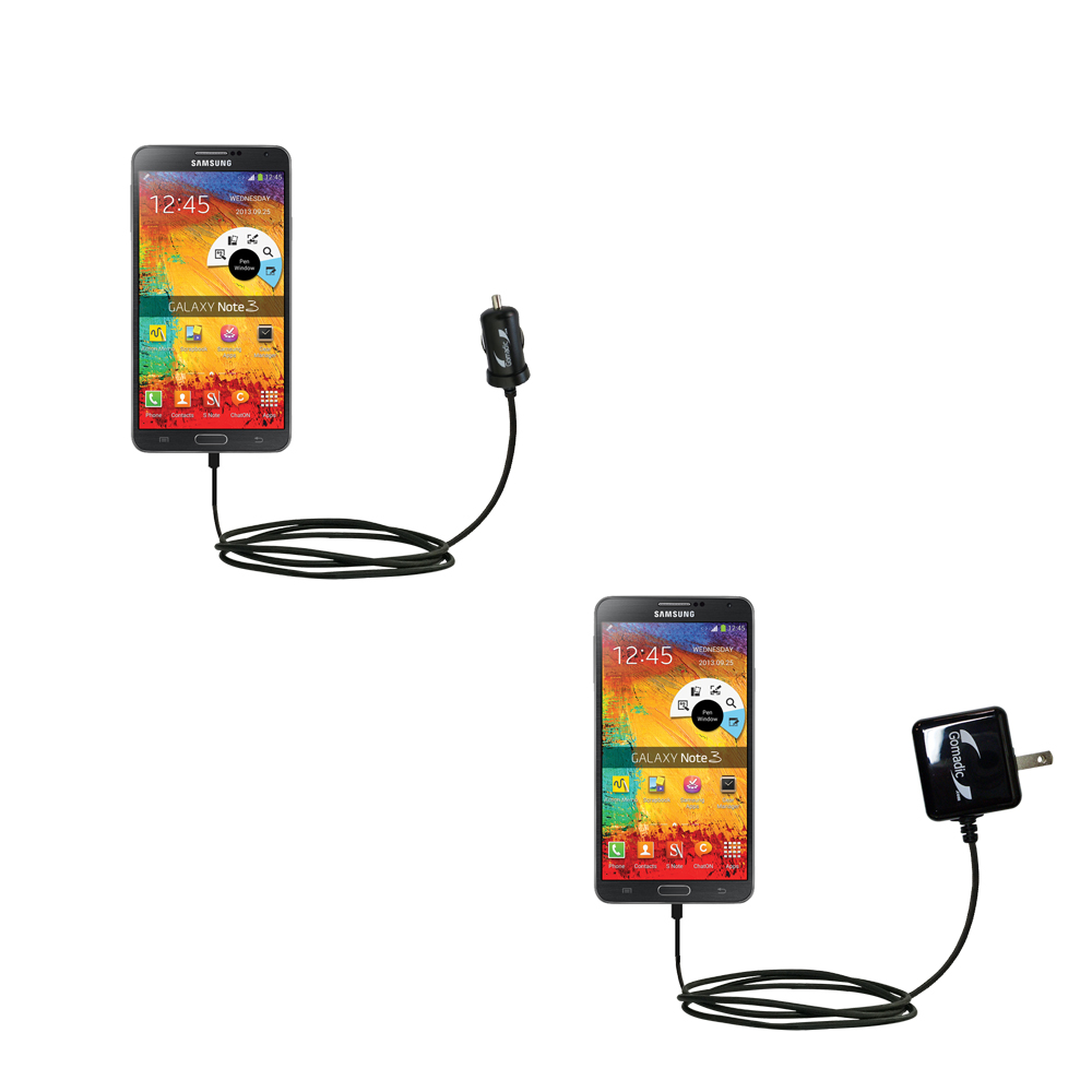 Car & Home Charger Kit compatible with the Samsung Galaxy Note 3 / Note III
