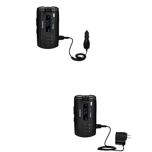 Car & Home Charger Kit compatible with the Samsung SGH-A930