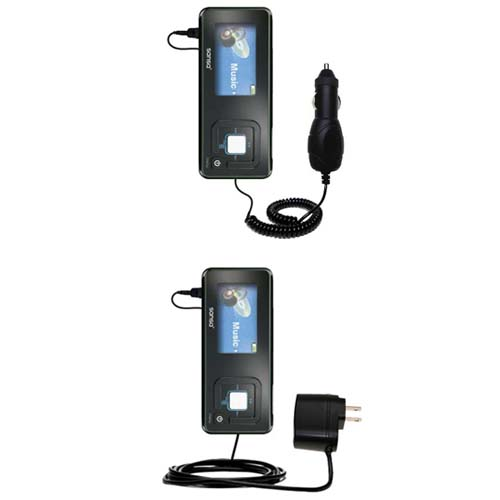 Car & Home Charger Kit compatible with the Sandisk Sansa c240