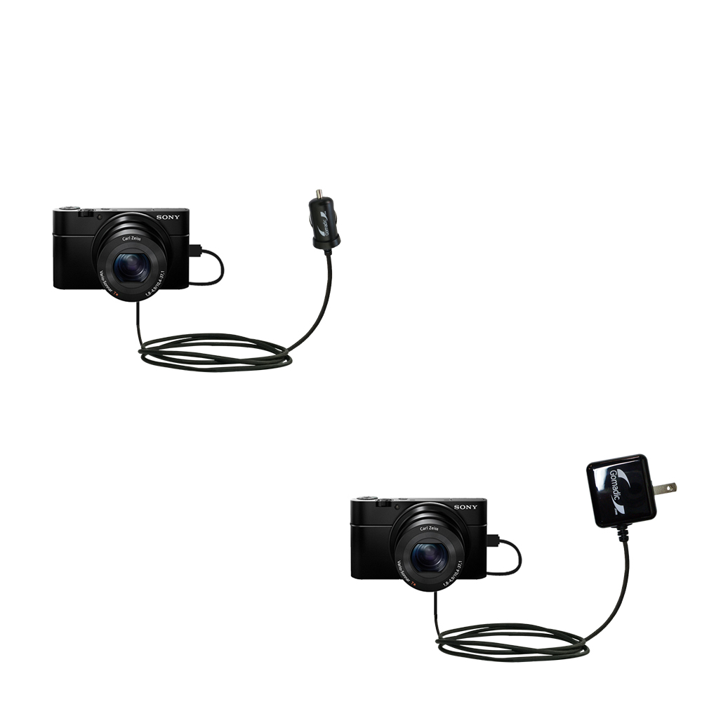 Car & Home Charger Kit compatible with the Sony Cybershot DSC-RX100