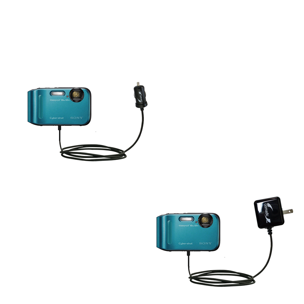 Gomadic Coiled Power Hot Sync USB Cable Suitable for The Sony DSC-TF1 with Both Data and Charge Features Uses TipExchange Technology
