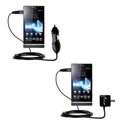 Car & Home Charger Kit compatible with the Sony Ericsson Xperia S