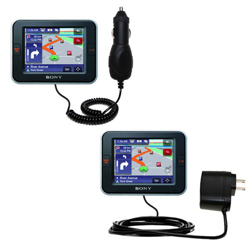 Car & Home Charger Kit compatible with the Sony Nav-U NV-U52