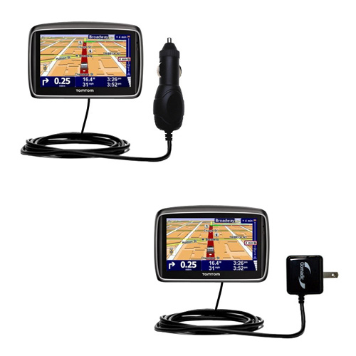 Car & Home Charger Kit compatible with the TomTom 740