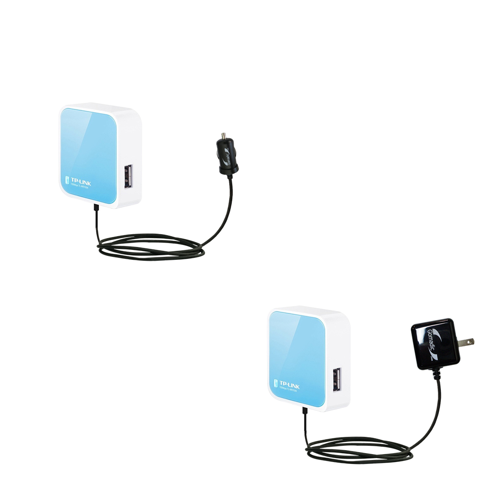 Car & Home Charger Kit compatible with the TP-Link TL-WR703N