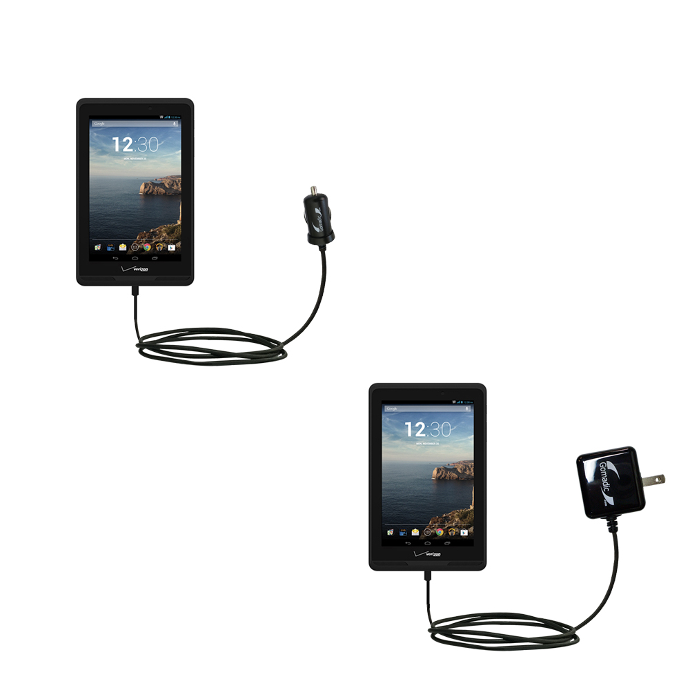 Car & Home Charger Kit compatible with the Verizon Ellipsis 7