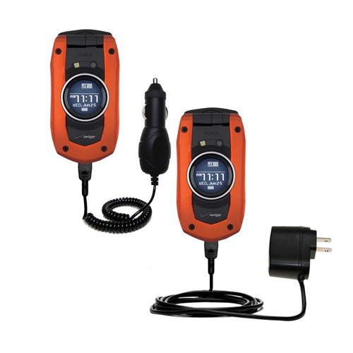 Car & Home Charger Kit compatible with the Verizon Wireless GzOne Boulder