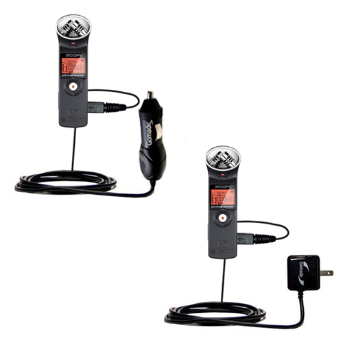 Car & Home Charger Kit compatible with the Zoom H1
