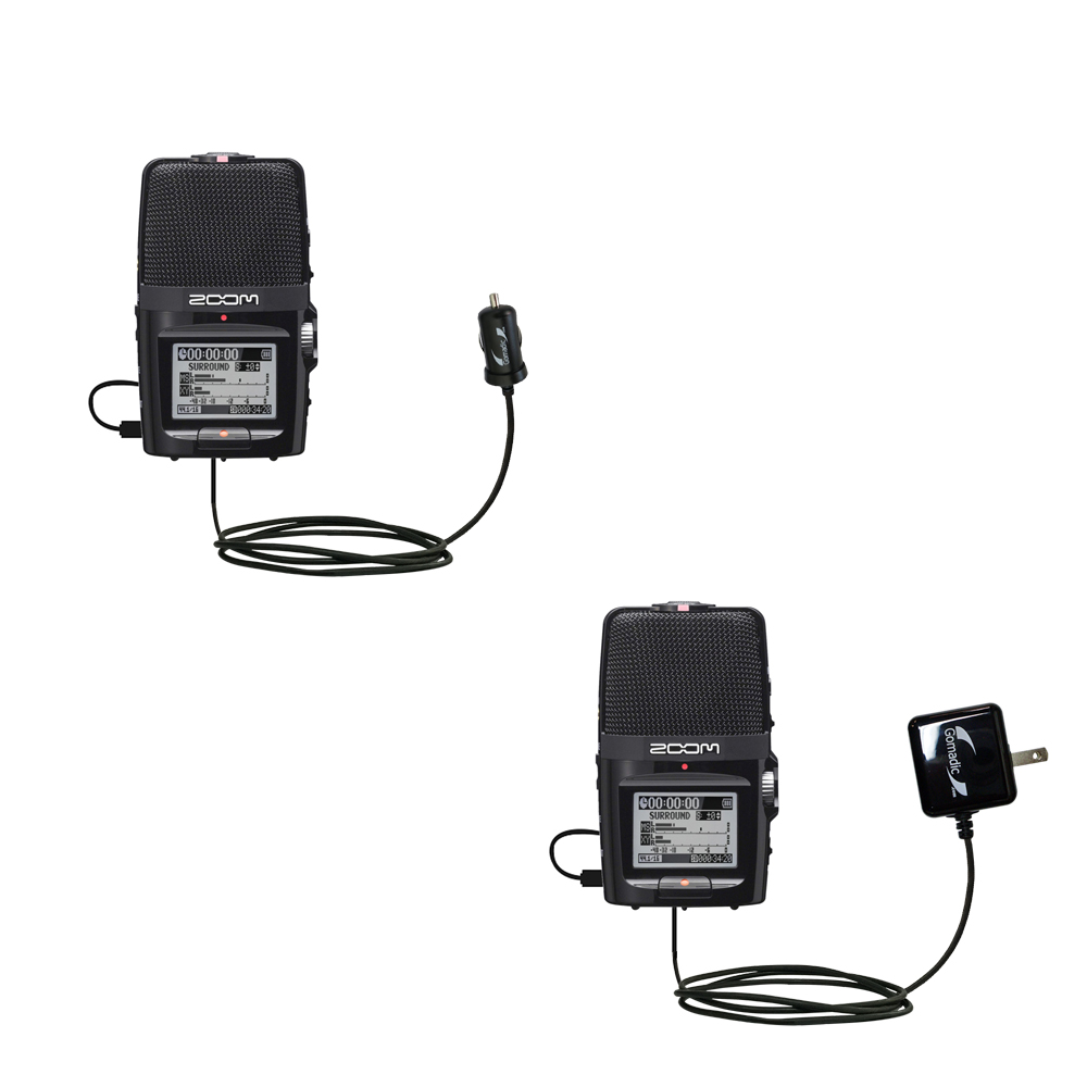 Car & Home Charger Kit compatible with the Zoom H2n